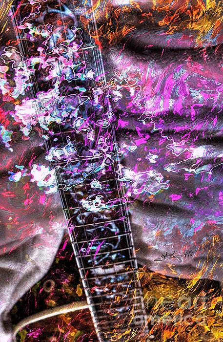 Guiacoustic Photograph - Jammin Out Digital Guitar Art By Steven Langston by Steven Lebron Langston