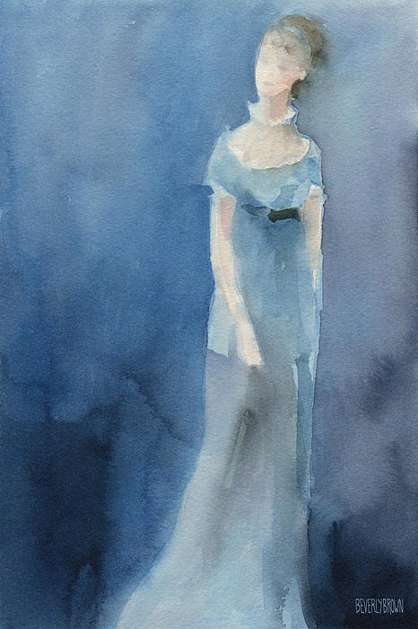 Jane Austen Painting - Jane Austen Watercolor Painting Art Print by Beverly Brown