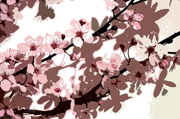 Climbing Painting - Japanese Blossom by Sarah OToole