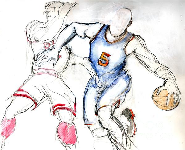 Jason Kidd Drawing - Jason Kidd by Carolyn Weltman