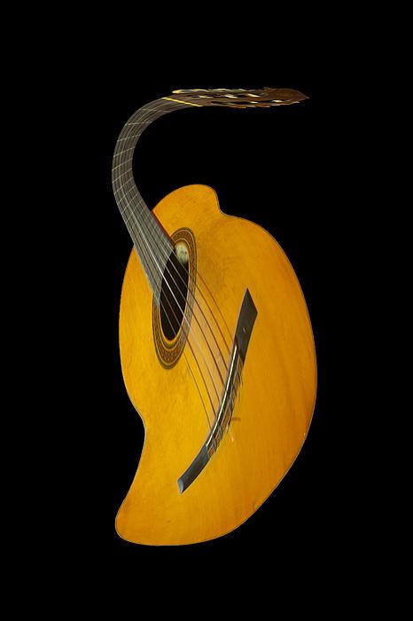 Guitar Photograph - Jazz Guitar by Debra and Dave Vanderlaan