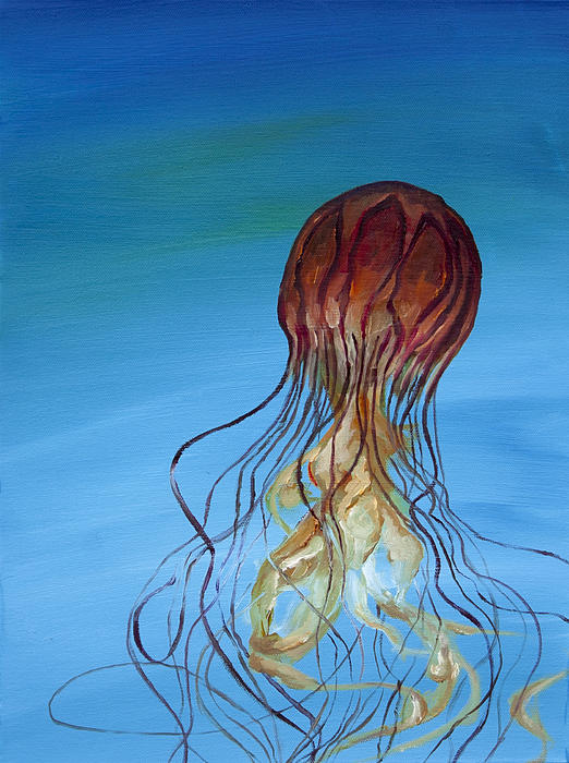 Jellyfish Painting - Jelly by Anthony Cavins