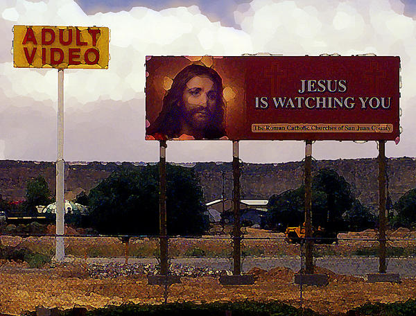 Jesus Photograph - Jesus Is Watching You by Ron Regalado