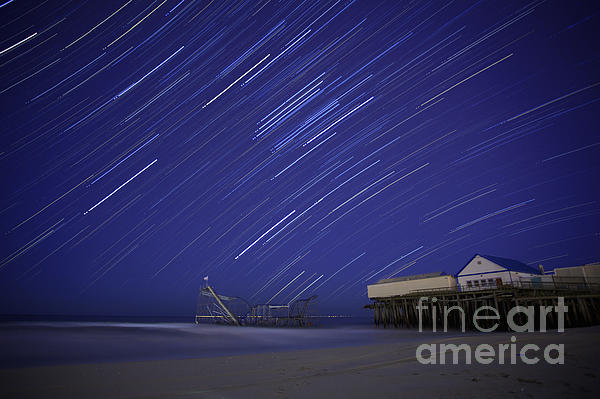 Sandy Photograph - Jet Star Trails by Amanda Stevens