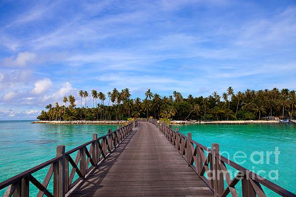 Travel Photograph - Jetty On Tropical Island by Fototrav Print