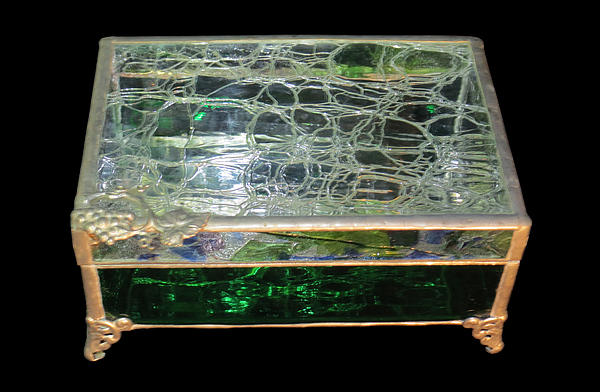 Glass Glass Art - Jewelry Box by Julie Turner