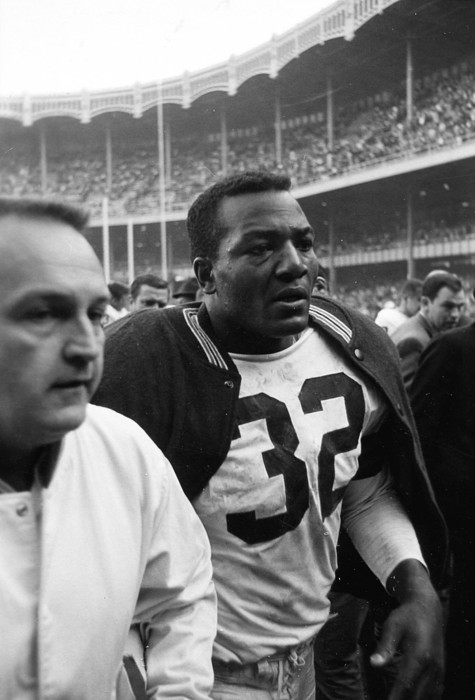Marvin Newman Photograph - Jim Brown Post Game  by Retro Images Archive