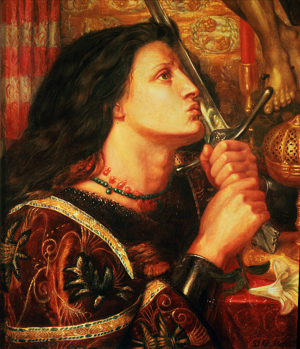 Joan Of Arc Painting - Joan Of Arc Kissing The Sword by Dante Gabriel Charles Rossetti