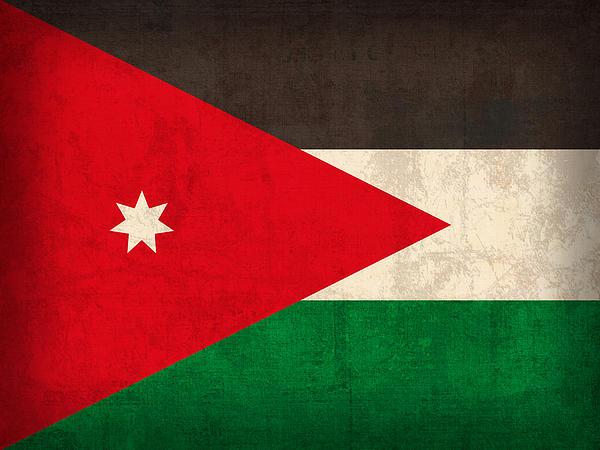 Jordan Mixed Media - Jordan Flag Vintage Distressed Finish by Design Turnpike