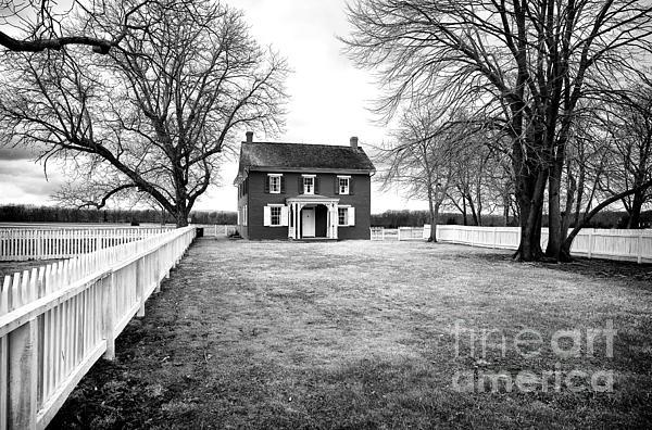 House Photograph - Joseph Serfy House Bw by John Rizzuto