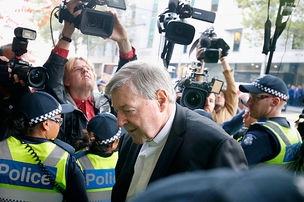 Judge To Decide If Cardinal George Pell Will Stand Trial On Historical Child Abuse Charges Photograph by Darrian Traynor