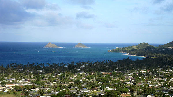 Hawaii Photograph - Kailua Town And Bay by Jo L