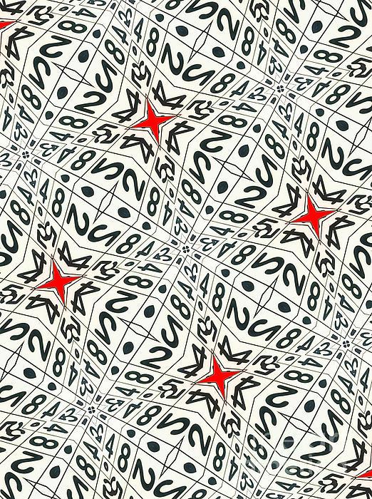 Carnegie Mellon University Digital Art - Kaleidoscope Random Numbers by Amy Cicconi