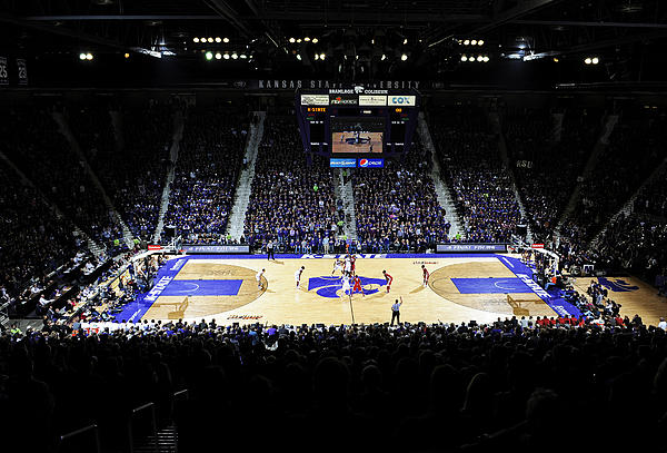 Big 12 Conference Photograph - Kansas State Wildcats Fred Bramlage Coliseum by Replay Photos