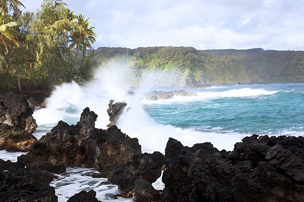 Coast Photograph - Keanae Lava Rocks by Jenna Szerlag