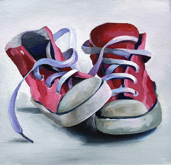 Keds Painting - Keds by Natasha Denger