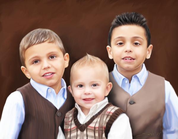 Portraits By Michael Spano Painting - Keegan Boys by Michael Spano