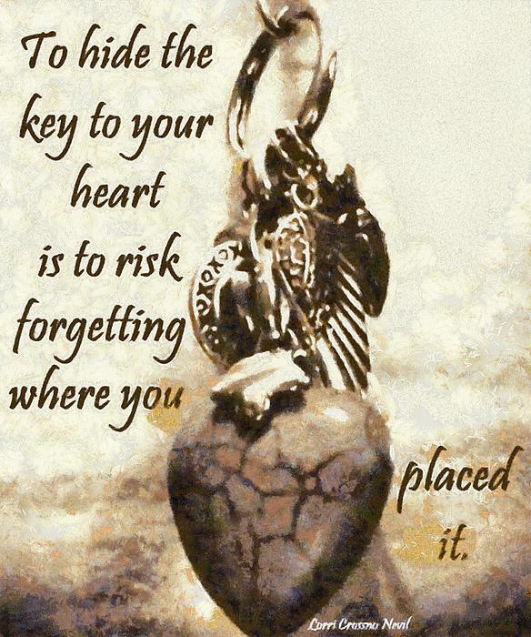 Heart Digital Art - Key To Your Heart by Lorri Crossno