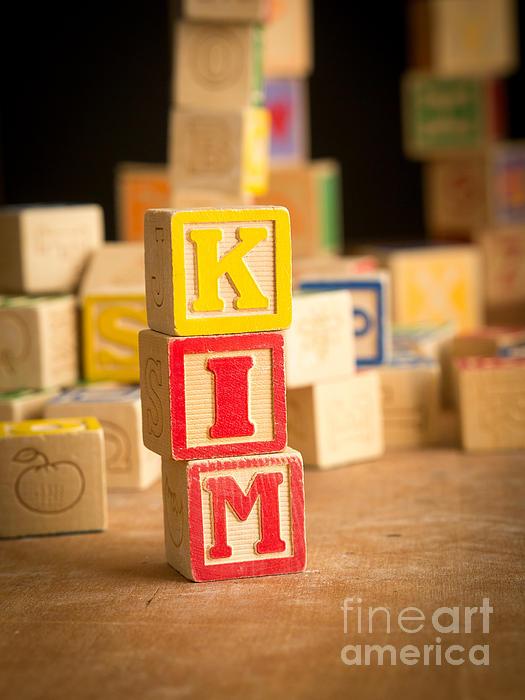 Abs Photograph - Kim - Alphabet Blocks by Edward Fielding