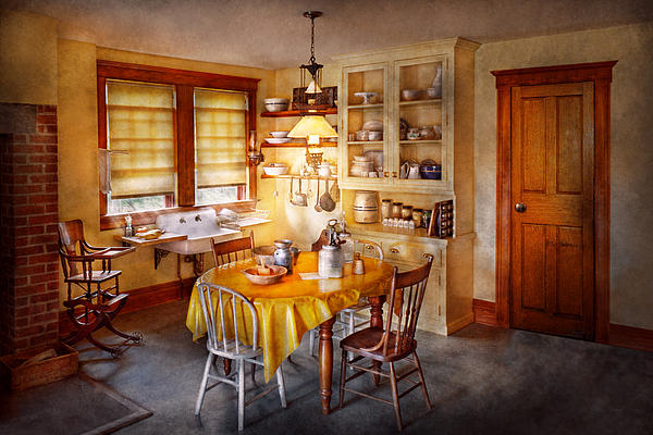 Kitchen Photograph - Kitchen - Typical Farm Kitchen  by Mike Savad
