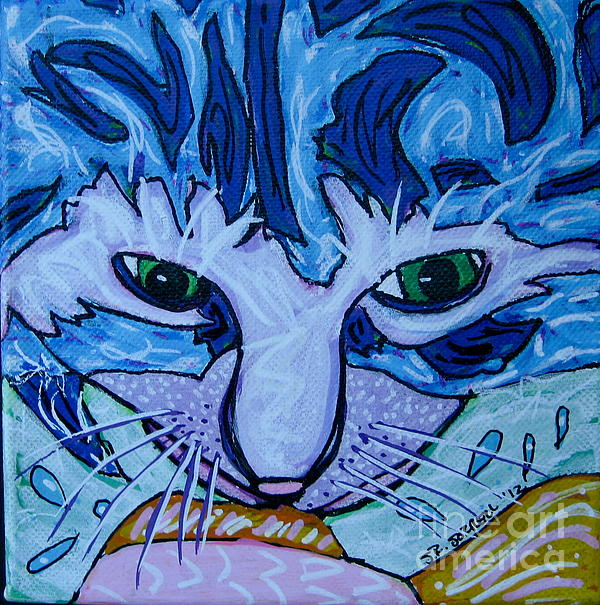 Cat Painting - Kitty by Susan Sorrell