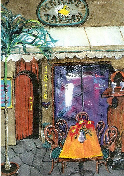 Knicks Painting - Knicks Tavern by Lyla Mitchell