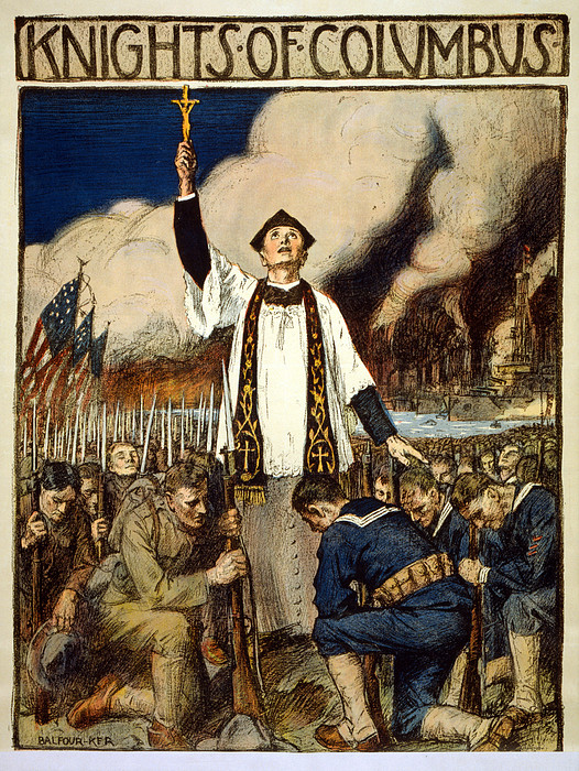 Poster Drawing - Knights Of Columbus, 1917 by William Balfour Kerr