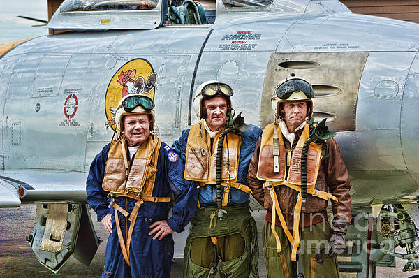 Fighter Pilots Photograph - Korea 1951 by Tommy Anderson