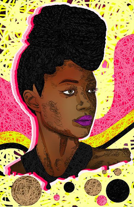 Fashion Digital Art - La Belle Tia by Kenal Louis