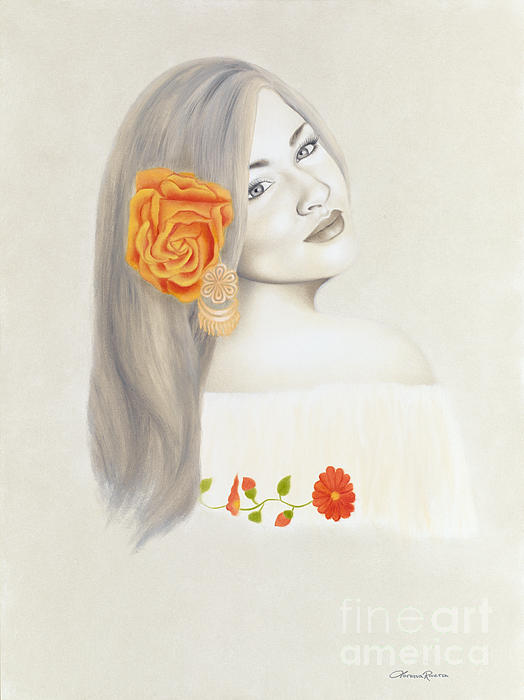 Mexican Painting - La Diva by Lorena Rivera