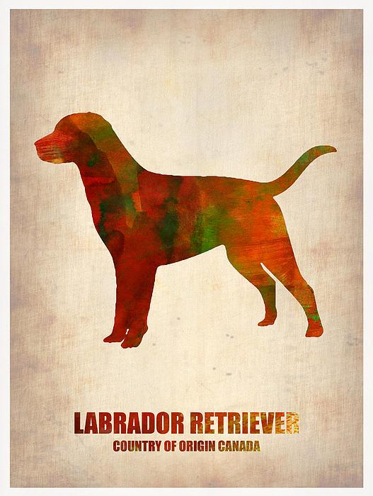 Labrador Retriever Painting - Labrador Retriever Poster by Naxart Studio
