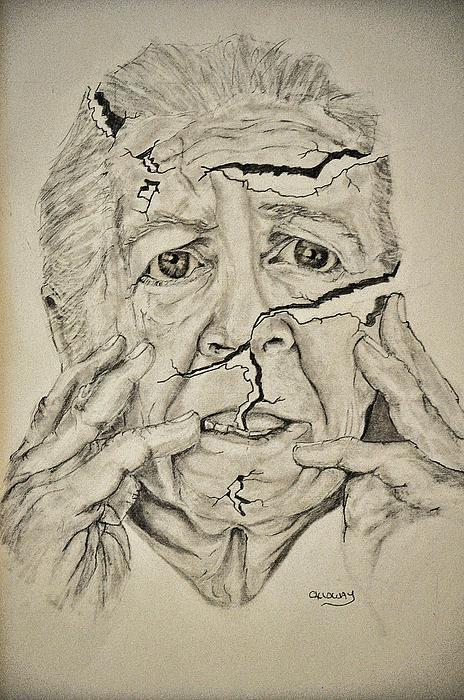 Lady Drawing - Lady Falling Apart by Glenn Calloway