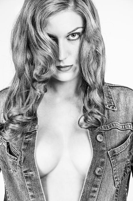 Ralf Photograph - Lady With A Jeans Jacket by Ralf Kaiser