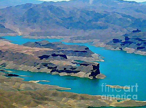 Lakes Painting - Lake Mead Aerial Shot by John Malone