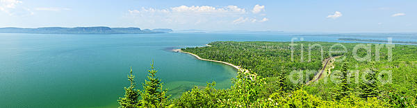 Lake Superior Photograph - Lake Superior Panorama by Elena Elisseeva