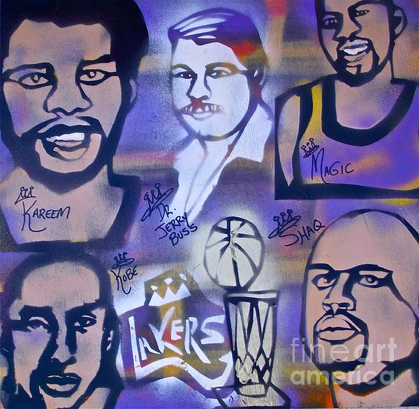 Kobe Bryant Painting - Lakers Love Jerry Buss 2 by Tony B Conscious