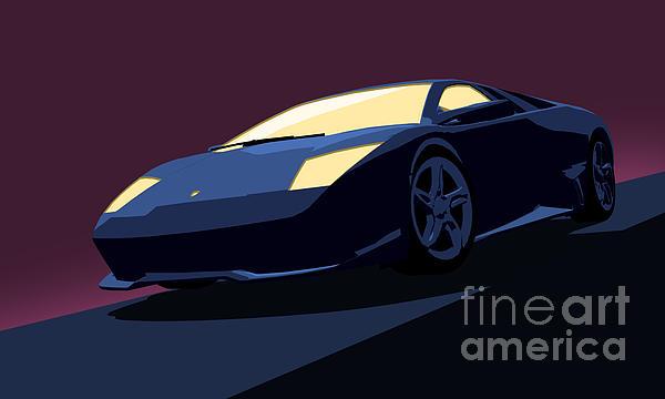 Lamborghini Murcielago Digital Art - Lamborghini Murcielago - Pop Art by Pixel  Chimp