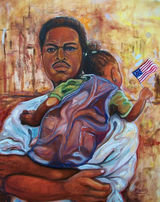 Land Of Free 2 Painting by Emery Franklin