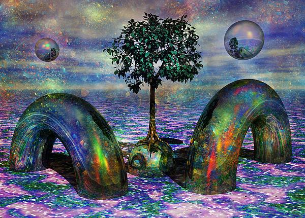 Fantasy Digital Art - Land Of World 8624028 by Betsy Knapp