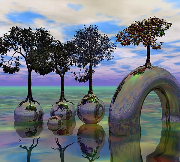 Fantasy Digital Art - Land Of World 8624034 by Betsy Knapp