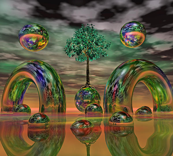 Fantasy Digital Art - Land Of World 8624036 by Betsy Knapp