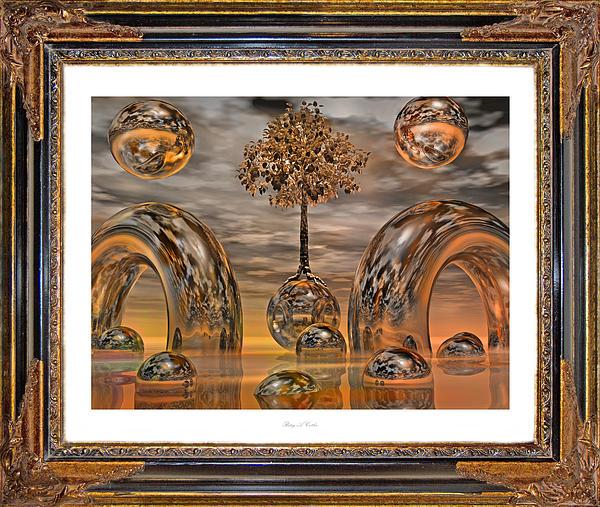Frame Digital Art - Land Of World 8624042 Framed by Betsy Knapp