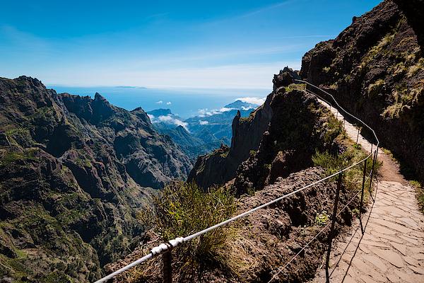 Landscape Of Trek Pico Do Arieiro To Pico Ruivo, Madeira Island, Portugal Photograph by Klisarova