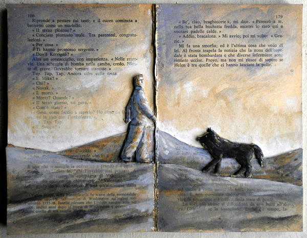 Book Relief - Landscape With Dog by Paolo Beneforti