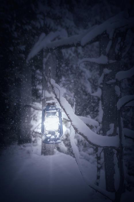 Lantern Photograph - Lantern In Snow by Joana Kruse