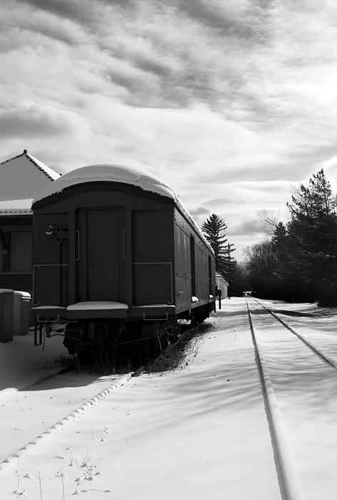 Railcar Photograph - Last Stop by Peter Chilelli
