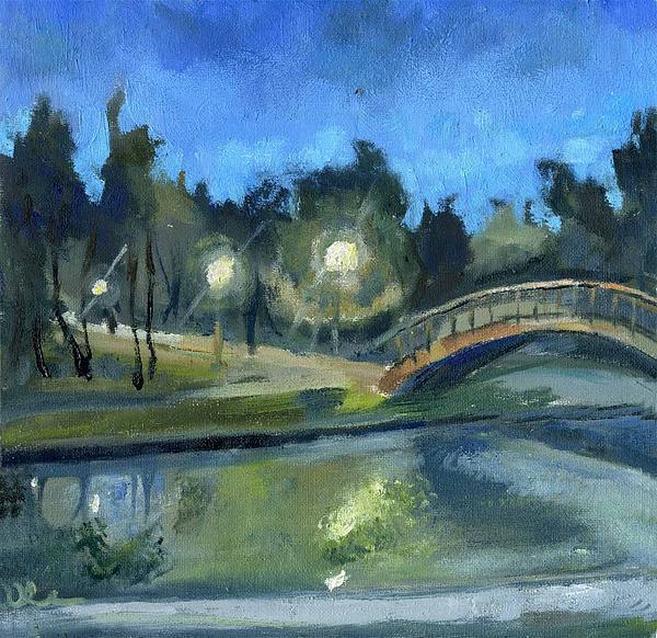 Landscape Painting - Late October by Lelia Sorokina