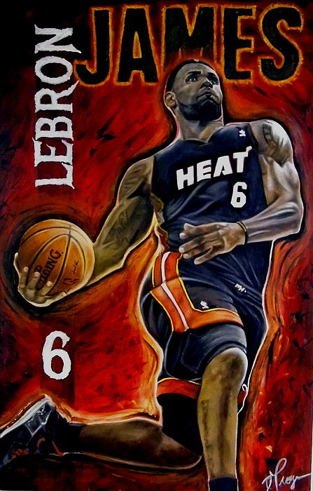 Lebron James Painting - Lebron James Oil Painting-original by Dan Troyer