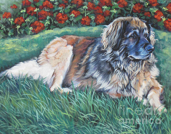 Leonberger Painting - Leonberger by Lee Ann Shepard