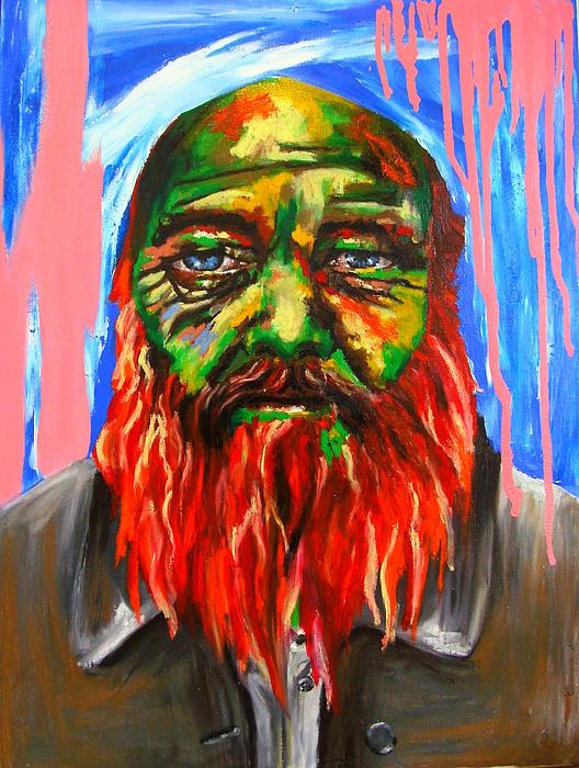 Oil Pastels Painting - Les Envers Des Endroits by Bazevian Bazevian